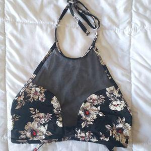VICTORIA SECRET   Black High Collar Bikini Top